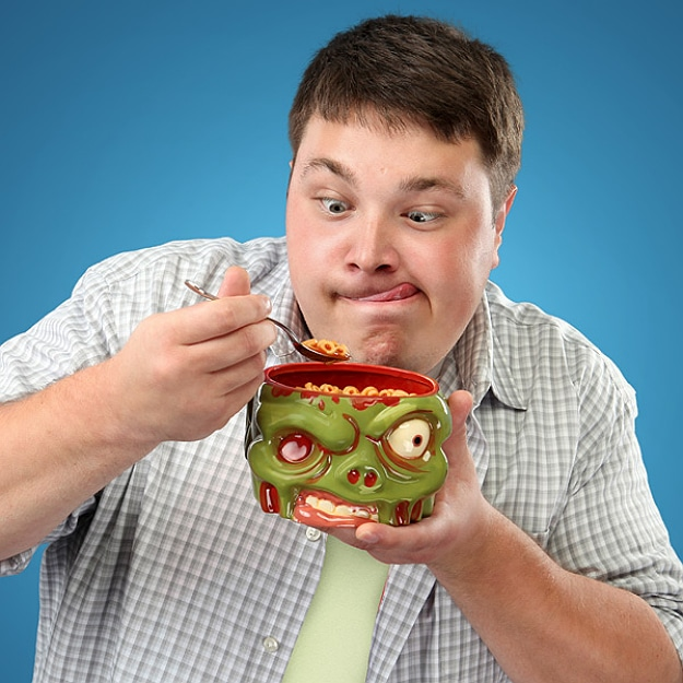 Zombowl Breakfast Cereal Bowl