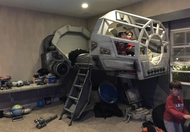 Dad Of The Year Builds Amazing Millennium Falcon Bed