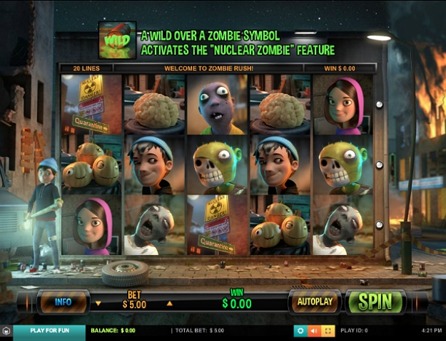 Zombie Slot Machine Invasion