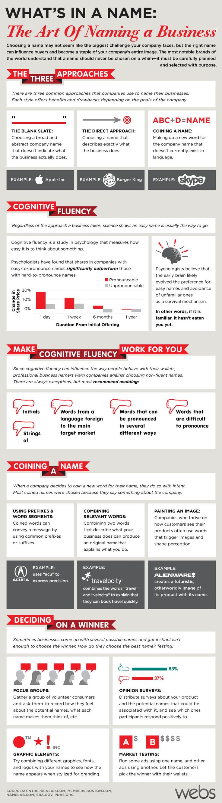 Naming A Business Infographic