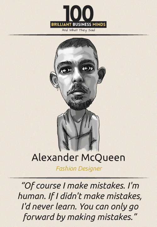 Alexander McQueen Inspirational Quotes