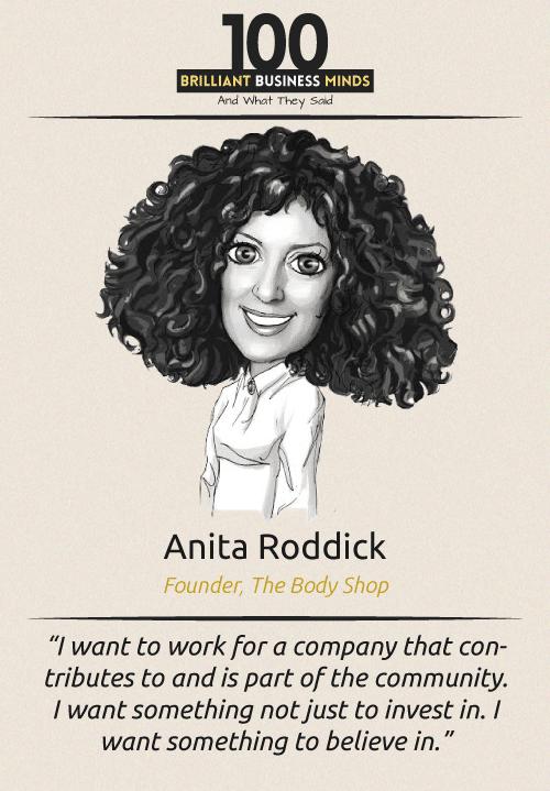 Anita Roddick Inspirational Quote