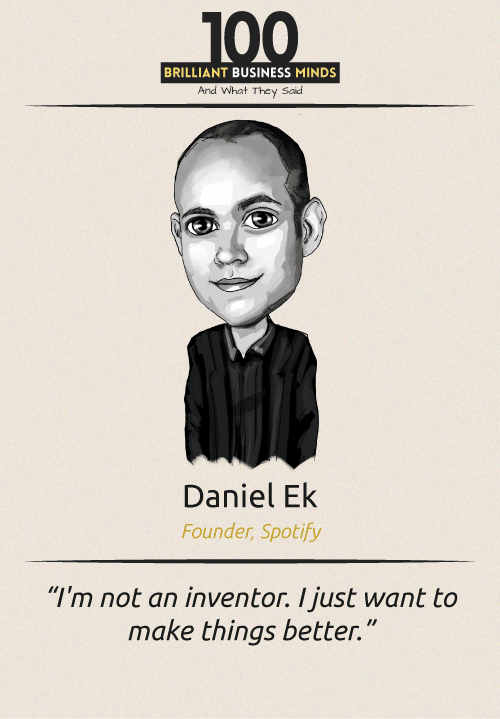 Daniel Ek Inspirational Quotes