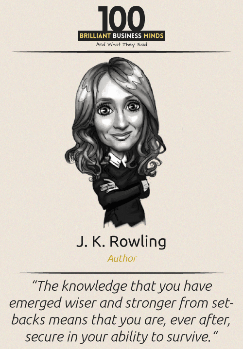 J K Rowling Inspirational Quotes