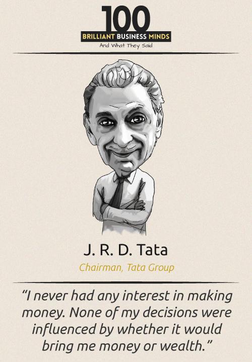 J R D Tata Quote
