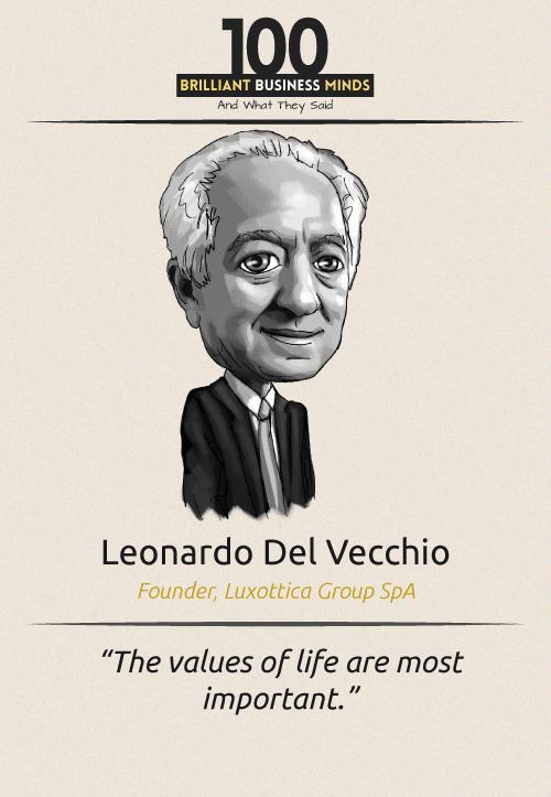 Leonardo Del Vecchio Quote