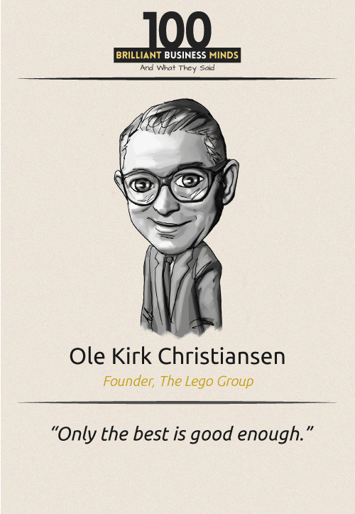 Ole Kirk Christiansen Quote