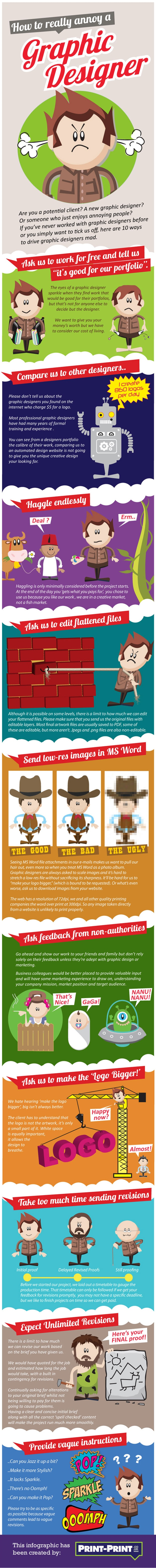 How To Really Annoy A Graphic Designer [Infographic]