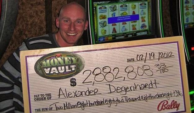 Guy Winning On Slots Header