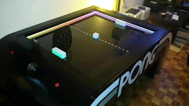 Hacker Creates A Real-Life PONG Arcade Table Game