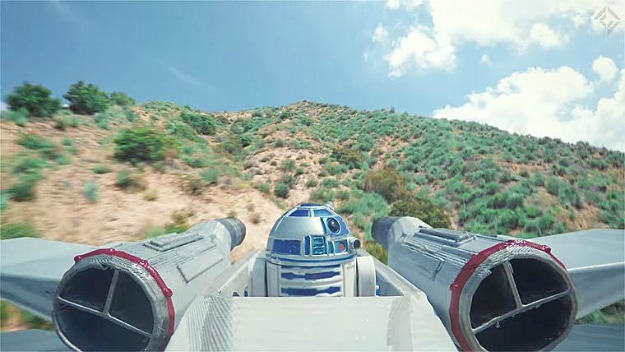Amazing Star Wars Dogfight Shot Using Real Drones [Video]