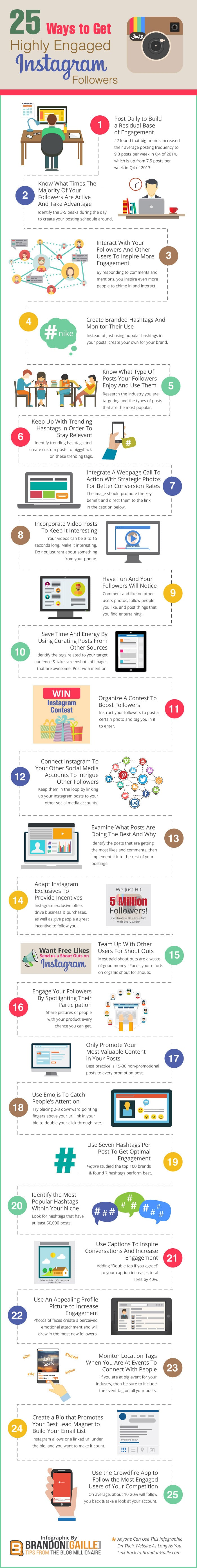 Get Engaging Instagram Followers Infographic