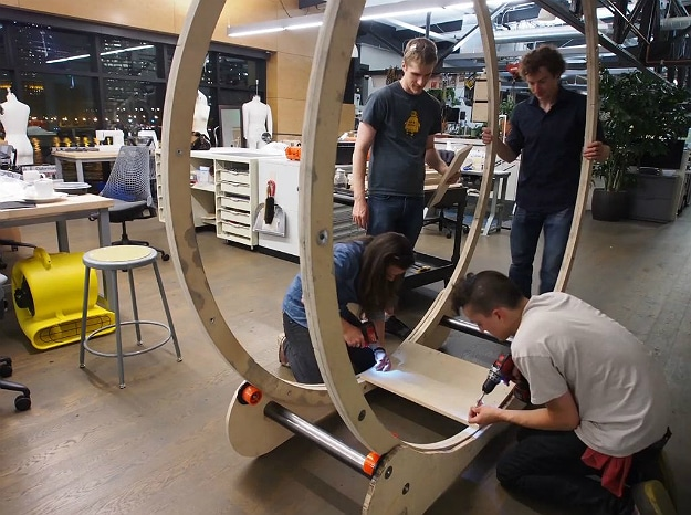 These Guys Built The Ultimate Human Hamster Wheel Standing ...