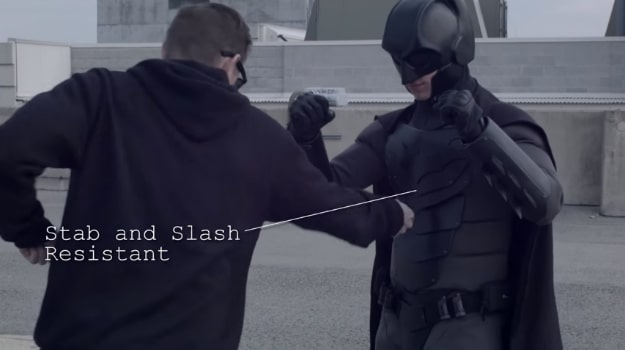 Real Batman Suit Stab Proof