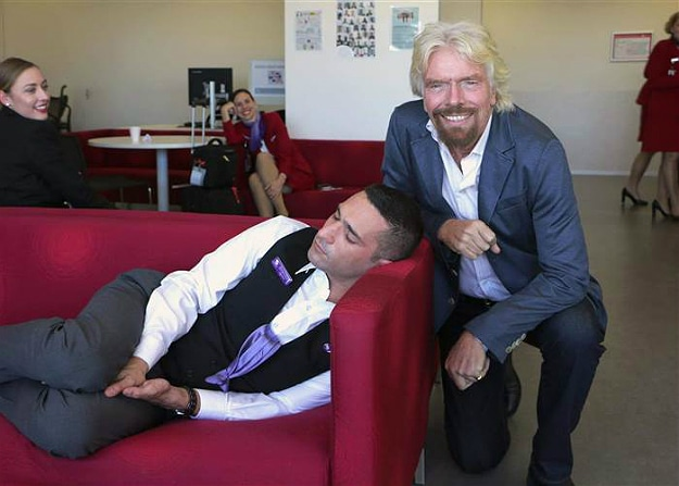 This Happens When Richard Branson Catches You Sleeping On The Job