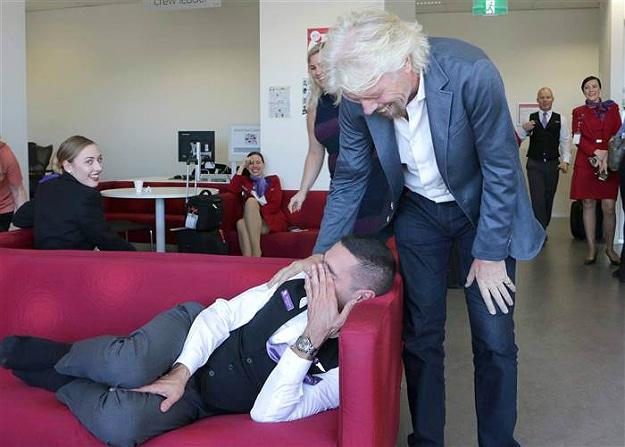 Richard Branson Sleeping Job Guy