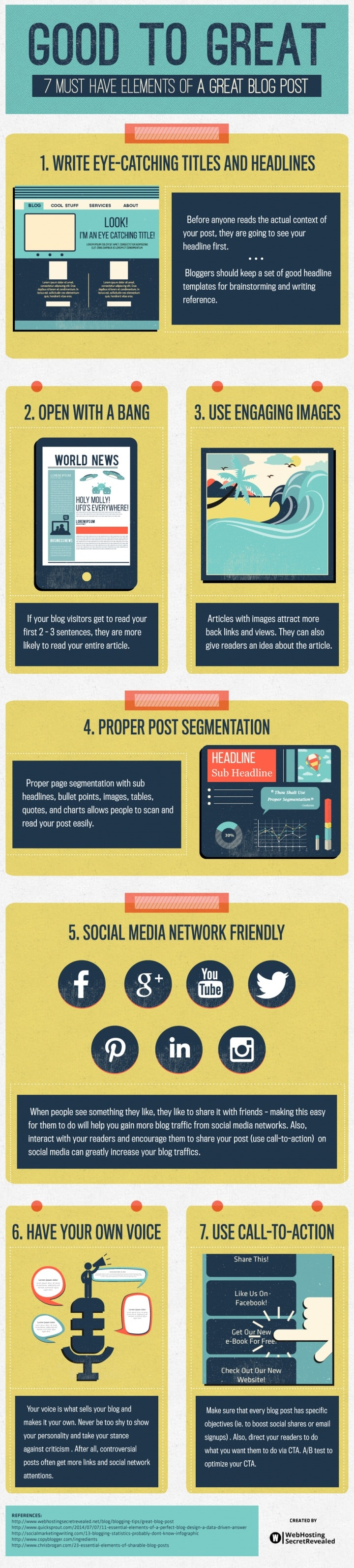 7 Must-Have Elements Of A Great Blog Post [Infographic]
