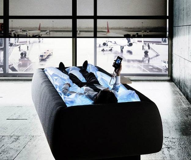 Zero-Gravity Dry Pool Relaxation