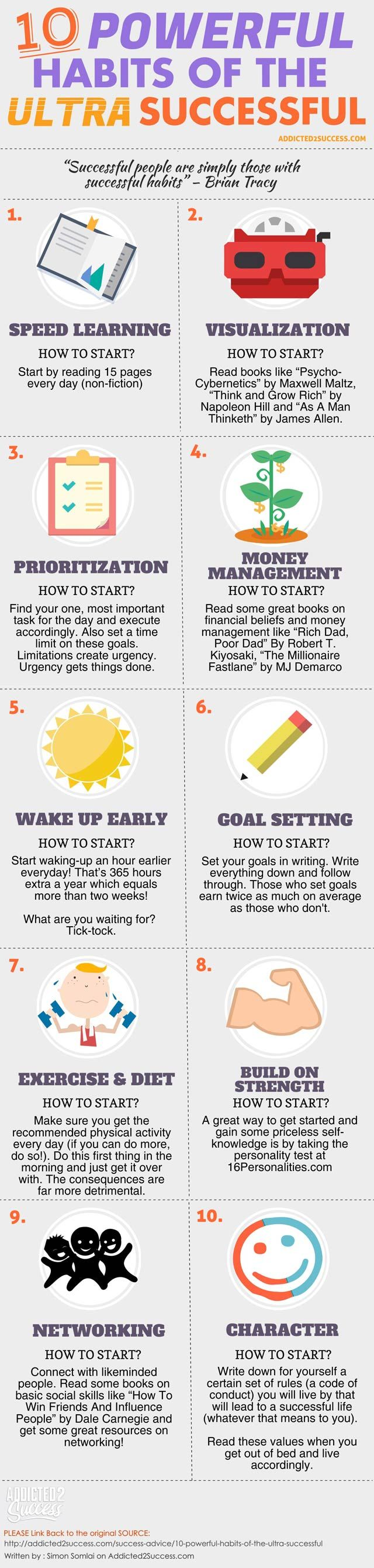 10 Habits Successful People Infographic