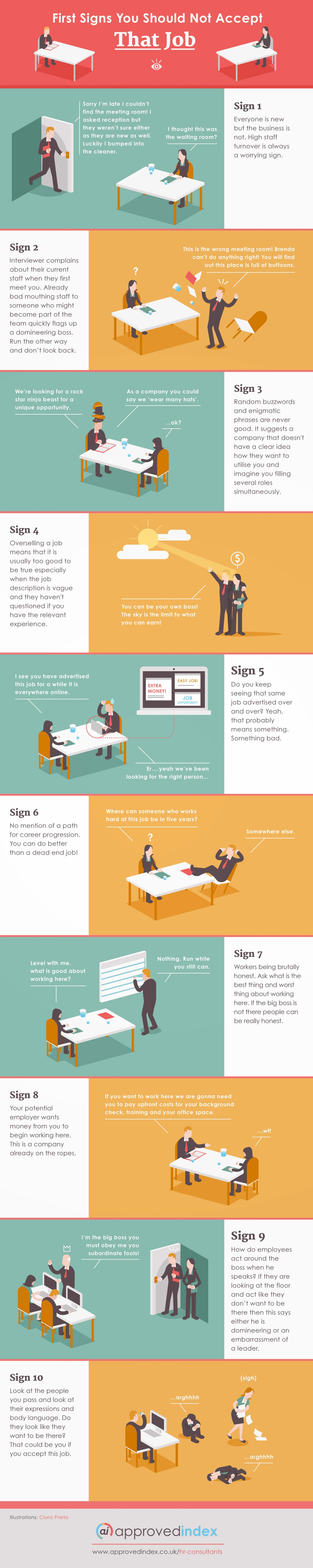 10 Signs You Should Not Accept That Job [Infographic]