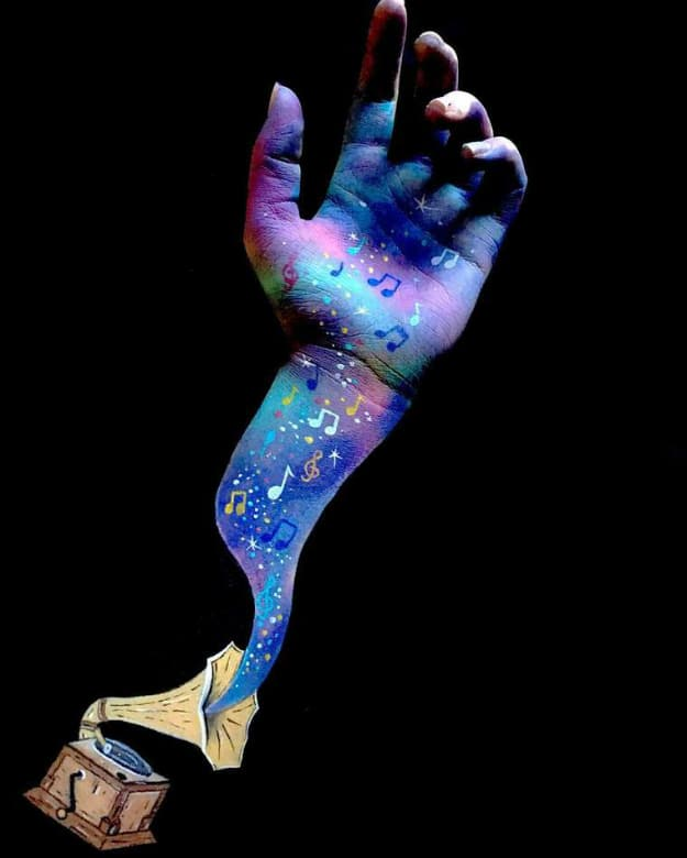 3D Body Paintings Lisha Simpson