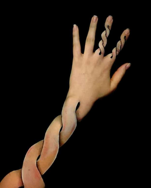 3D Body Paintings Lisha Simpson