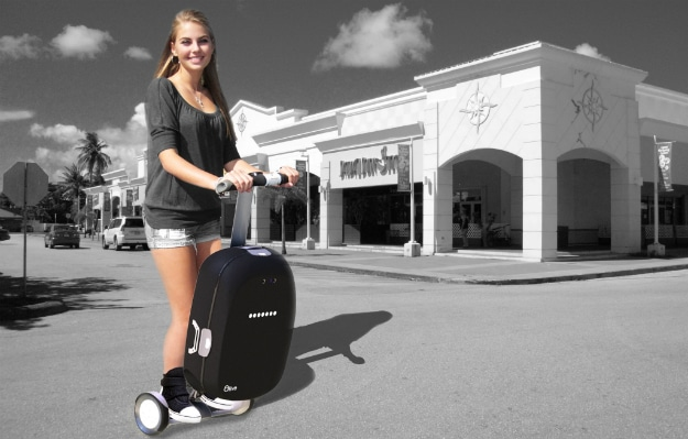 Intelligent Suitcase Olive Segway