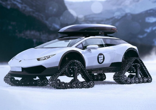 $200,000 Lamborghini Huracan Turned Into A Snowmobile