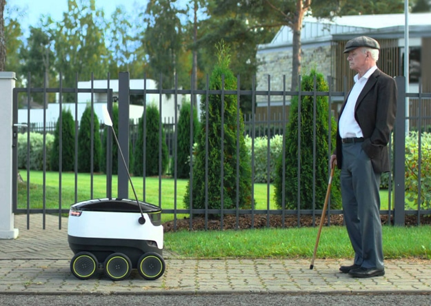 Pizza-Delivering Autonomous Robots