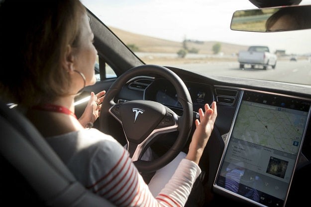 Tesla Autopilot Crash Car