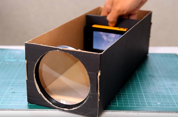 How To Make A Smartphone Projector Using A Shoebox
