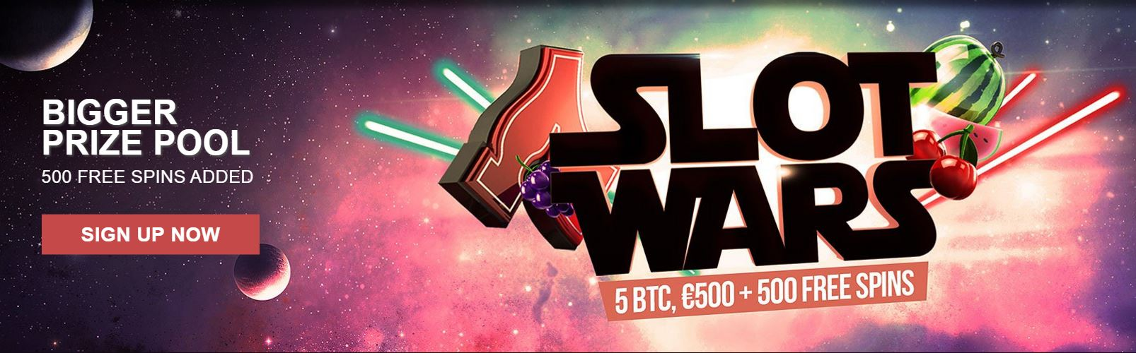 Bitcoin Casinos Slot Wars Banner