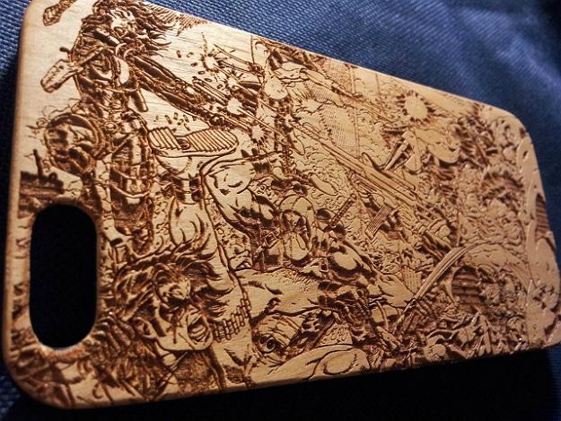 Laser Engraving Wooden Smartphone Case