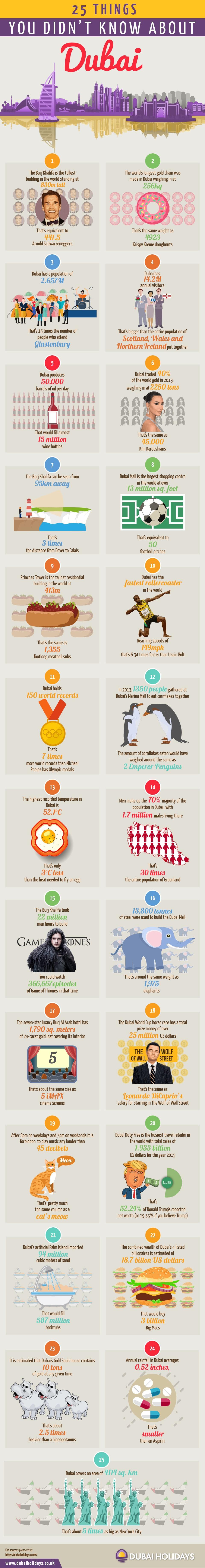 25 Amazing Facts Dubai Infographic