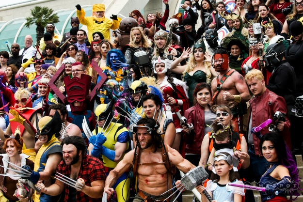 Cosplay Comic Con Group Picture Header