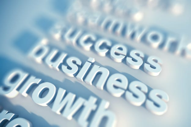 Promote Business Economic Growth Words Header