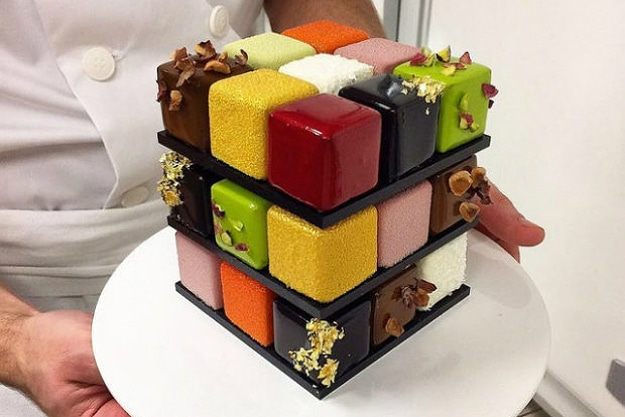 The Ultimate Rubik's Cube Pastry For The Intelligent Food Fanatic