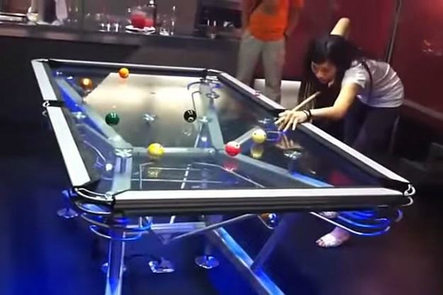 Amazing Transparent Pool Table Header