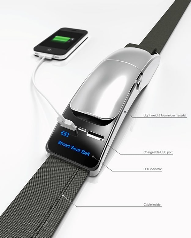 Strap In And Recharge With This Amazing Smart Seatbelt