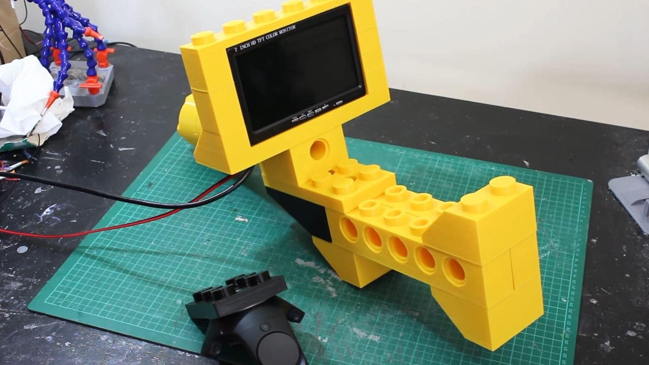 Giant LEGO Blaster Virtual Reality Header