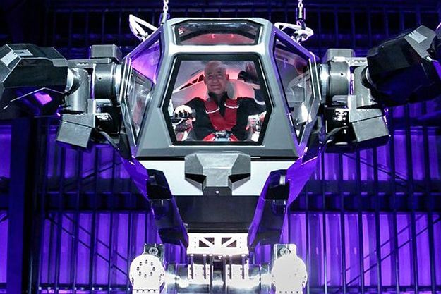 Jeff Bezos Shows Off His Moves In A Life-Size Mech Robot Suit