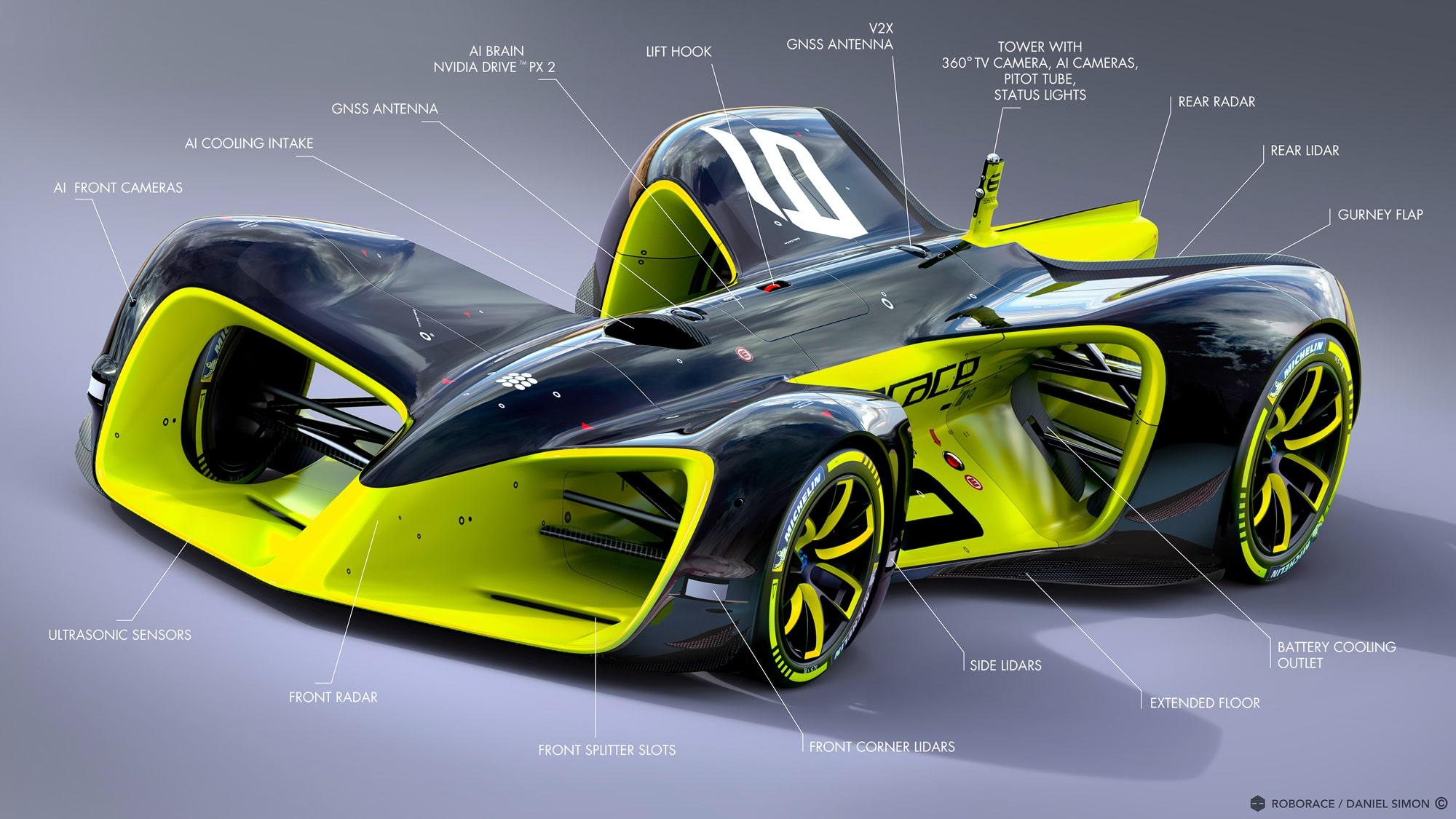 Roborace Autonomous Formula E Car Details