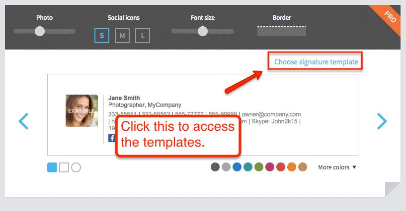 WiseStamp Email Signature Templates 1