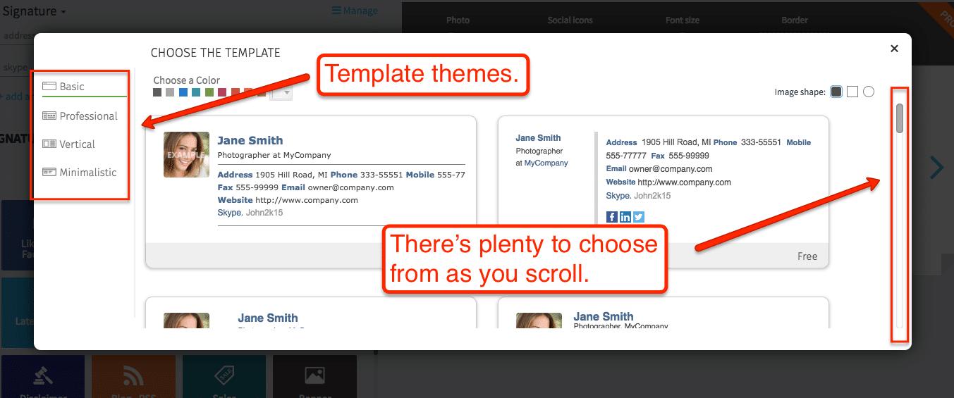 WiseStamp Email Signature Templates 2