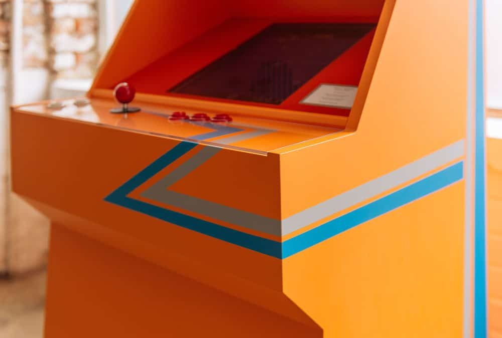 STOA Replay Customized Arcade Cabinet Orange