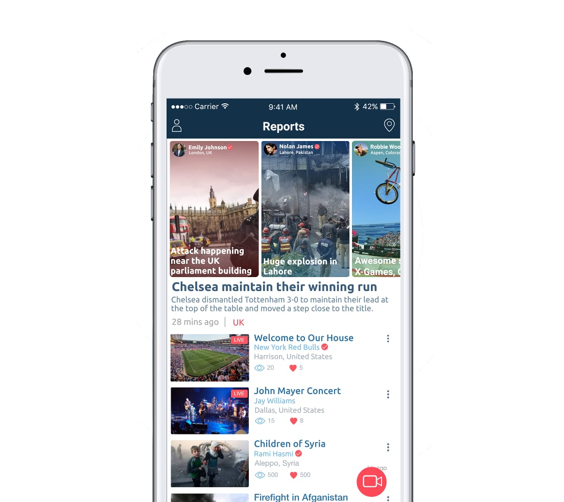 Live Reporting – An App To Watch And Report The True News