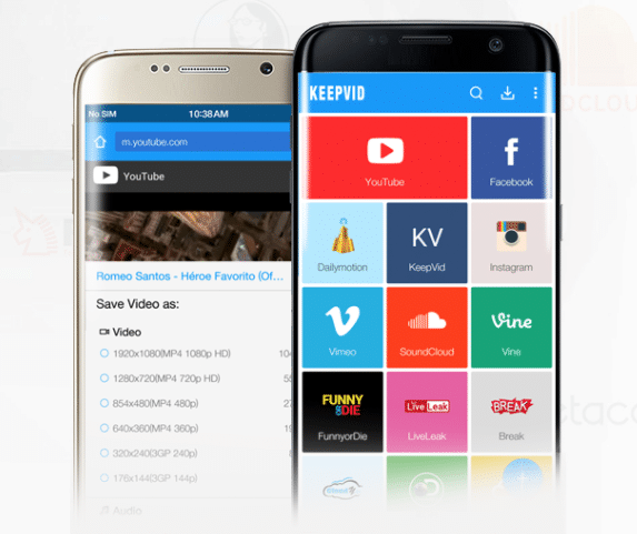 KeepVid Android Download Conversion Tool Header Image