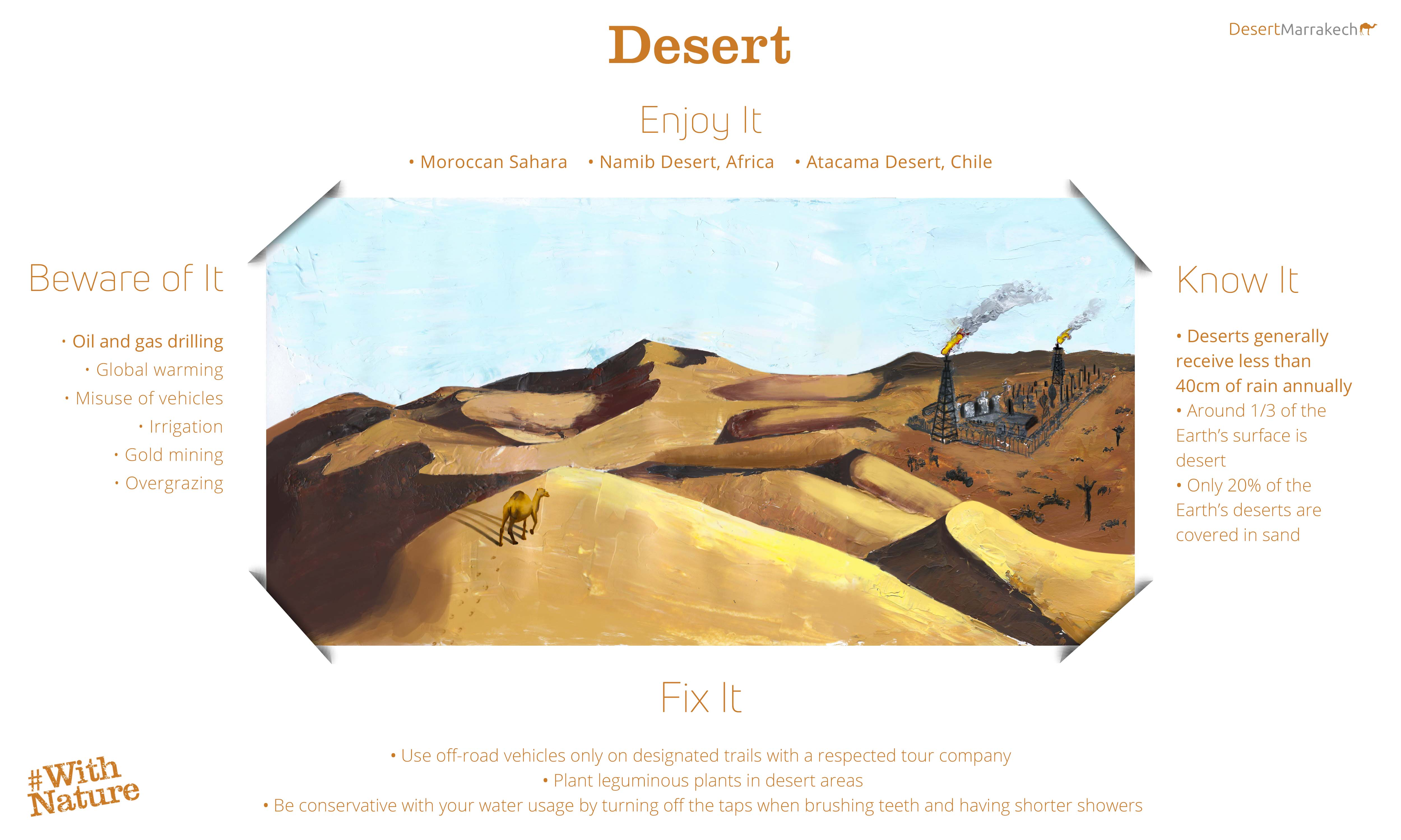 World Environment Day Deserts Infographic