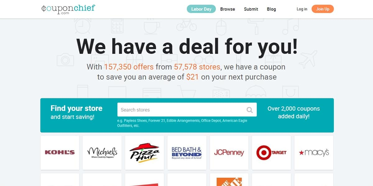 20 Best Coupon Sites CouponChief