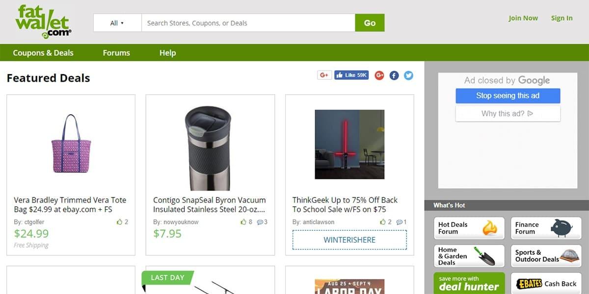 20 Best Coupon Sites FatWallet